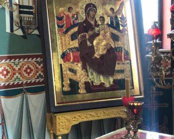 Иконата на св. Богородица Всецарица ще се съхранява в олтара на църквата до навечерието на храмовия празник